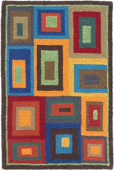 #DashAndAlbert Box In Box Wool Hooked Rug