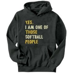 Yes I Am One Of Those Softball People Mens Hoodie:Amazon:Clothing