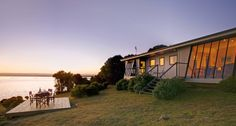 Spectacular beach accommodation at Hazards Hideaway in Coles Bay, TAS. http://www.beautifulaccommodation.com/properties/hazards-hideaway