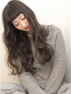ヘアー サンディ(hair SUNDY) ★ 外国人風リラックスstyleおん眉×ミルクティーカラー long ★