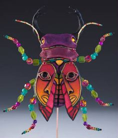 Mixed Media Insect by Milwaukee artist Mary L Hager
