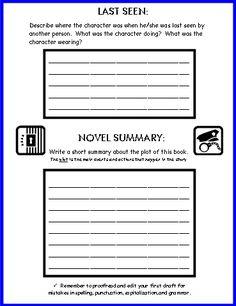 Mystery book report 4th grade