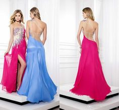 Cheap Pink Prom Dress - Discount 2015 Sexy Prom Dress Strapless Sequins Crystal Chiffon Online with $101.04/Piece   DHgate