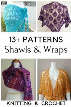 01f1f3c45a7d7 13+ Shawl Patterns for Knit   Crochet