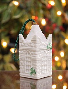 Belleek St. Patrick's Cathedral Bell Ornament - Crystal Classics