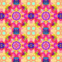 #Hippy #Kaleidoscope Fractal  #Scarf in Pink and Yellow