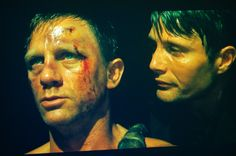 Daniel Craig and Mads Mikkelsen in Casino Royale // hidebond