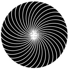Cartoon Rolling Waves | Black And White Hypnosis Circle