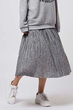 Marl Pleat Midi Skirt, £30 | Topshop