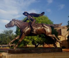 Masked Rider Statue in the Frazier area! #TexasTech #SupportTradition #TTAA