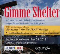 Equinox Archives Online Museum: Gimme Shelter Benefit Concert