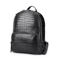 Genuine Alligator Leather Backpack Business Travel Daypack for Men fe159aaaea381