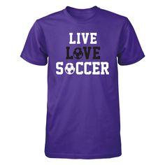 Live Love Soccer - Unisex Crew Purple