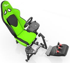 Openwheeler Racing Wheel Stand Cockpit Green/Black | For Logitech G29 | G920 and Logitech G27 | G25 | Thrustmaster Wheels | Racing wheel & controllers NOT included