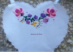 Delightful Kalocsai Collar and Pink Matyo Apron by KalocsaArtStore, $75.00