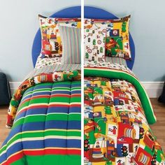 kids Full Comforter Set Mix Colorful Fire House 3-Alarm Reversible Bed In A Bag #Generic