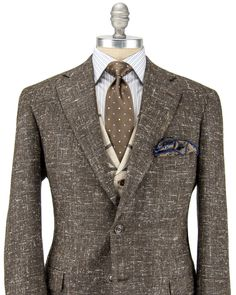 Andrea Campagna | Brown Tweed Sportcoat | Apparel | Men's