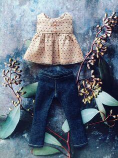 Jeans and top set for Ruruko by moshimoshistudio
