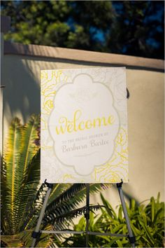 Sophisticated-Yellow-And-Gray-Shower-Welcome-Sign