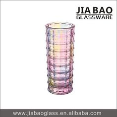 Home Decorative Pink Colored Glass Vase