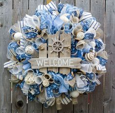 door nautical everyday il listing deco doors beach wreaths mesh front decor double summer doorbeach coastal wreath