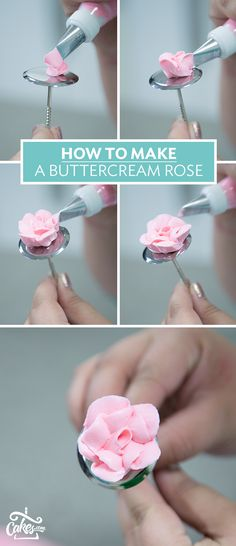 Learn how to make a buttercream rose