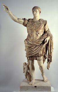 Augusto di Prima Porta,I secolo d.C,marmo bianco,villa di Livia, Prima Porta, via Flaminia; Musei Vaticani.