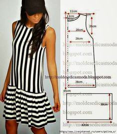 49 Ideas for sewing clothes diy dress inspiration Dress Sewing Patterns, Sewing Patterns Free, Clothing Patterns, Easy Patterns, Pattern Sewing, Free Pattern, Fashion Sewing, Diy Fashion, Ideias Fashion