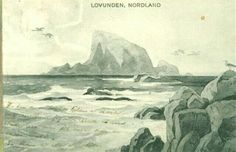 Kunstnerkort Thorolf Holmboe Lovunden i Nordland Thorolf Holmboe 1920-tallet