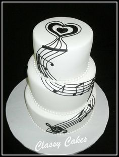 "take out heart on top, put Treble Clef cake topper in it's place, ""Ocean blue"" color."