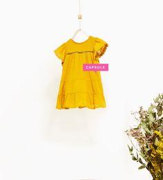 ZARA - ENFANTS - ROBE OCRE À VOLANTS Vêtements Filles, Zara Enfant, Mode  Enfants c9f2a13b67a4