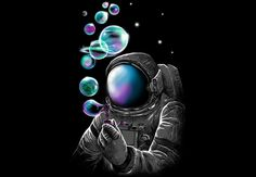 """ufo-the-truth-is-out-there: """"Pastel astronaut art: by tang yau """" Psychedelic Art, Psychedelic Tattoos, Art Design, Trippy, Artsy Fartsy, Amazing Art, Fantasy Art, Space Fantasy, Planets"""