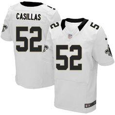 Men Nike New Orleans Saints #52 Jonathan Casillas Elite White NFL Jersey Sale Colts Peyton Manning 18 jersey