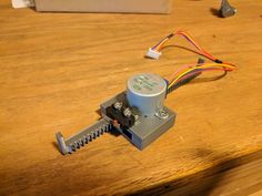 Linear actuator for stepper motor by TucksProjects - Thingiverse Make 3d Printer, 3d Printer Projects, Balancing Robot, Arduino Cnc, Linear Actuator, 3d Printing Technology, Stepper Motor, Mechanical Design, 3d Prints