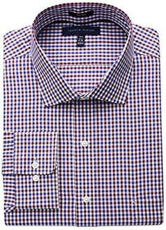 Tommy Hilfiger Men's Big and Tall Non Iron Tall Fit Check Spread Collar Dress Shirt Review