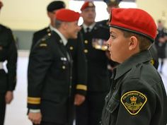 Freedom of the City - Members of the Collingwood 1909 OPP Cadets stand at attention while Major Dan Durdurand, commanding officer of the Canadian Forces Military Police Academy, inspects the corps during the annual review. Both the CFMPA and the cadets will be involved in the Freedome of the City on June 21.