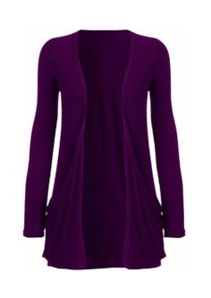Women's Plus Size Pocket Long Sleeve Cardigan