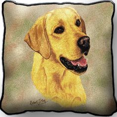 Yellow Lab Pillow | Labrador Accent Pillow | Pure Country