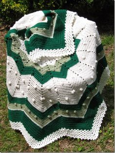 12 Point Star Crochet Afghan Free Pattern
