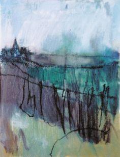 'Muddy Track to the Village II', Janine Baldwin, oil on canvas, 34 x 30cm  www.janinebaldwin.co.uk