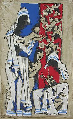 Maqbool Fida Husain - Mother @ Serigraphs III: M F Husain | StoryLTD I #Indianart #MFHusain #Modern art