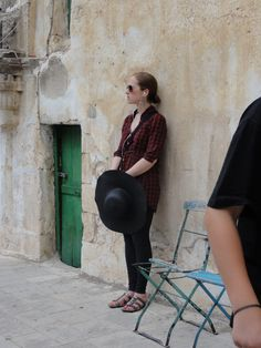 Jerusalem - Julia & a green door