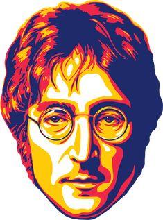 John Lennon · The Beatles · Music Vector Illustration Artwork Vector Portrait Obtain Art And Illustration, Portrait Illustration, Portrait Vector, Digital Portrait, Pop Art Portraits, Portrait Art, Beatles Art, The Beatles, John Lenon
