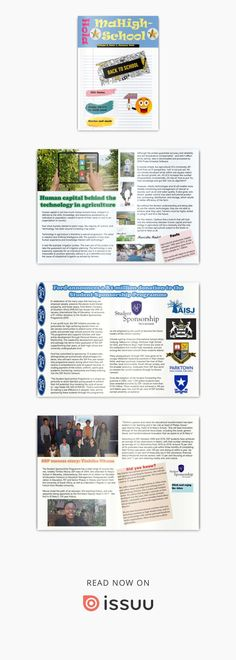 Hola MaHigh-School - January 2020 The first one for 2020 - Good read School Days, High School, Technology In Agriculture, Holiday Program, International Day, Leadership, January, Presentation, Articles