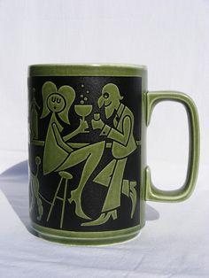 Hornsea pottery 'bar scene' mug, hehe.