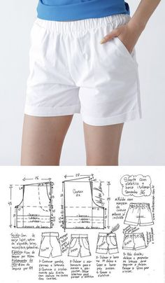 Prodigious Sewing Make Your Own Clothes Ideas Sewing Shorts, Diy Shorts, Sewing Clothes, Diy Clothes, Dress Sewing Patterns, Clothing Patterns, Como Fazer Short, Velvet Dress Designs, Boxer Pants