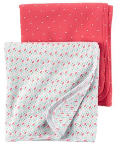 Carter's 2-Pack Floral Swaddle Blankets Original Price $24.00 Wrap baby in soft, breathable comfort with this duo of blankets. Abloom with Polka Heart... #blankets #newborn #infant #cotton #swaddle #wrap #baby #girl #soft #carters