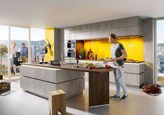 Schüller Elba Kitchen - Schuller by Artisan Interiors Kitchen Island Decor, Kitchen Doors, Open Plan Kitchen, Grey Kitchens, Luxury Kitchens, Handleless Kitchen, Urban Kitchen, New Kitchen Designs, Kitchen Ideas