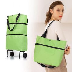 Folding Shopping Trolley, Shopping Trolley Cart, Virée Shopping, Cheap Shopping, Trolley Bags, Reusable Shopping Bags, Tote Bag, Courses, Luggage Bags
