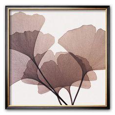 Art.com Ginkgo Leaves I Framed Art Print by Steven N. Meyers, White